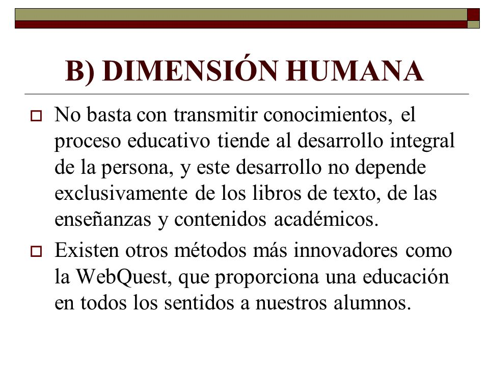 B) DIMENSIÓN HUMANA