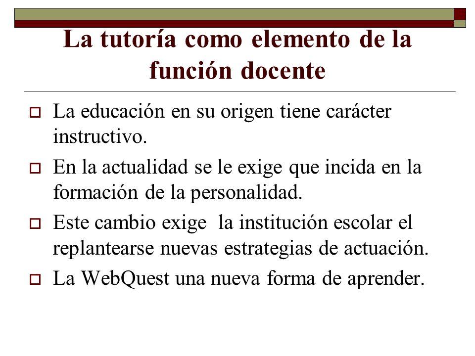 La tutoría como elemento de la función docente