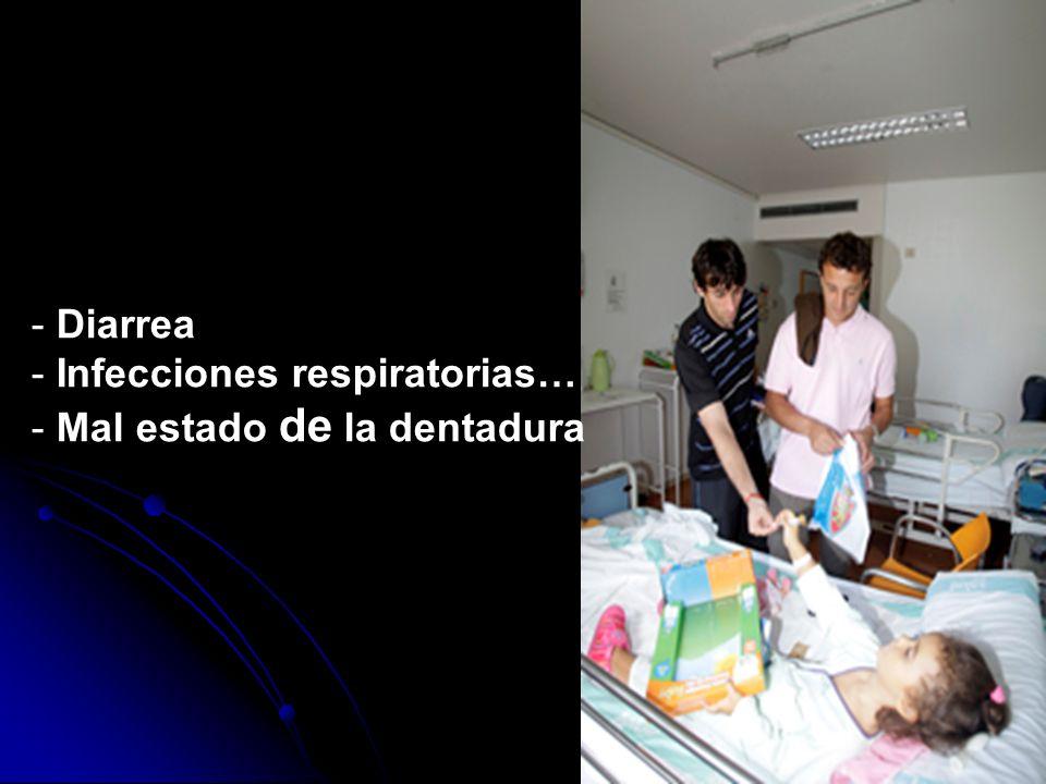 Diarrea Infecciones respiratorias… Mal estado de la dentadura