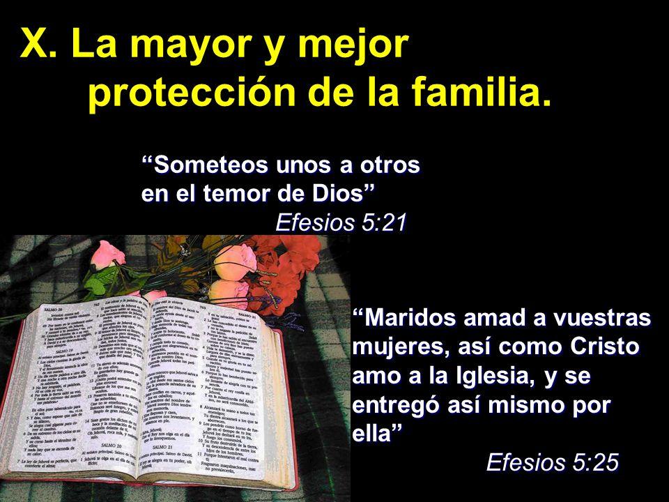 protección de la familia.