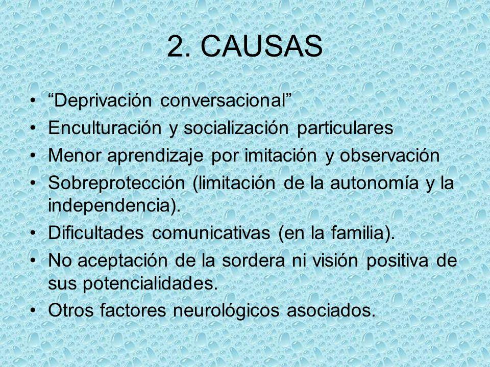 2. CAUSAS Deprivación conversacional