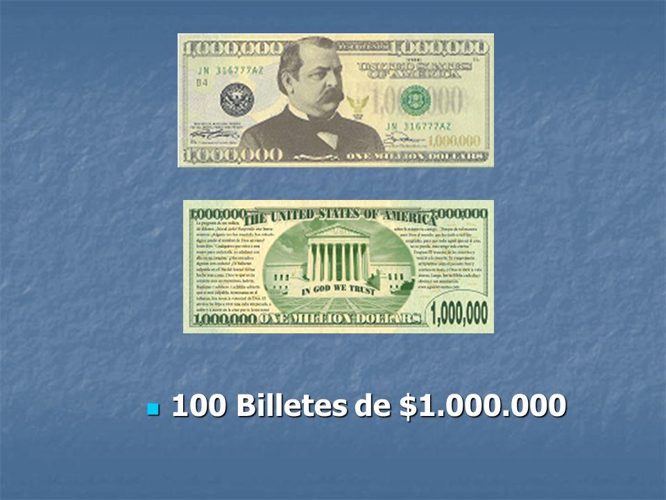 100 Billetes de $1.000.000
