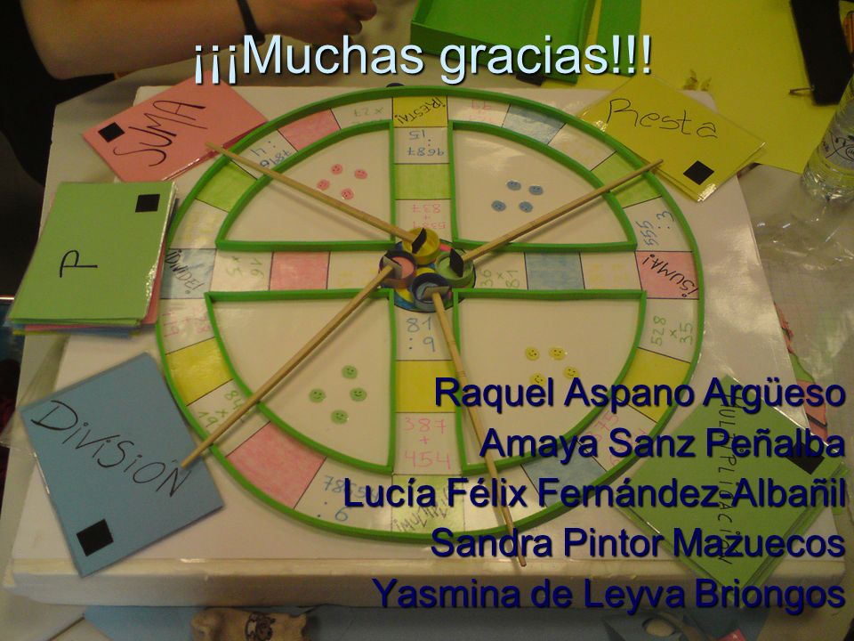 ¡¡¡Muchas gracias!!! Raquel Aspano Argüeso Amaya Sanz Peñalba