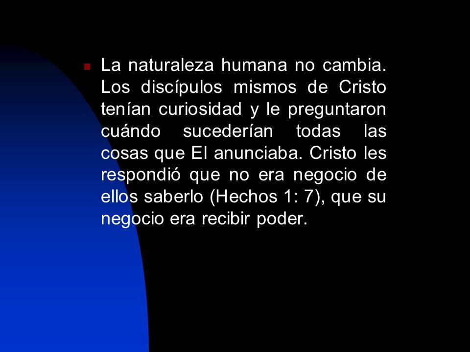 La naturaleza humana no cambia