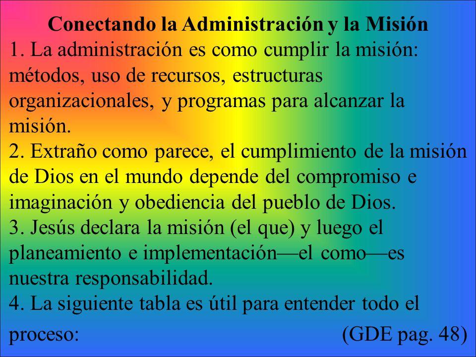 Conectando la Administración y la Misión