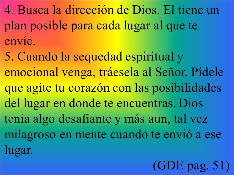 4. Busca la dirección de Dios
