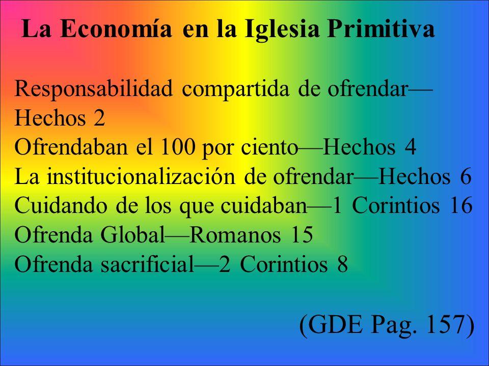 La Economía en la Iglesia Primitiva
