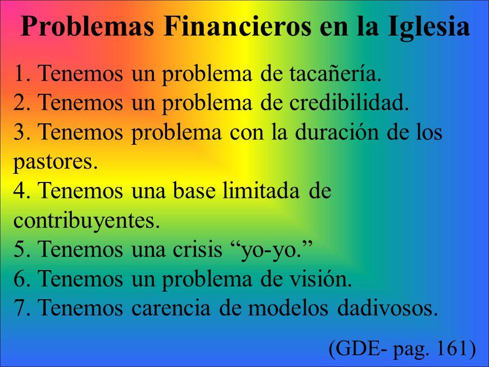 Problemas Financieros en la Iglesia