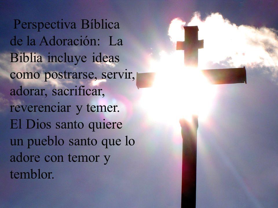 Perspectiva Bíblica de la Adoración: La Biblia incluye ideas como postrarse, servir, adorar, sacrificar, reverenciar y temer.