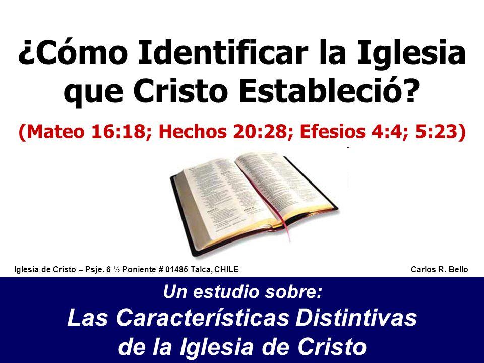 ¿Cómo Identificar la Iglesia que Cristo Estableció