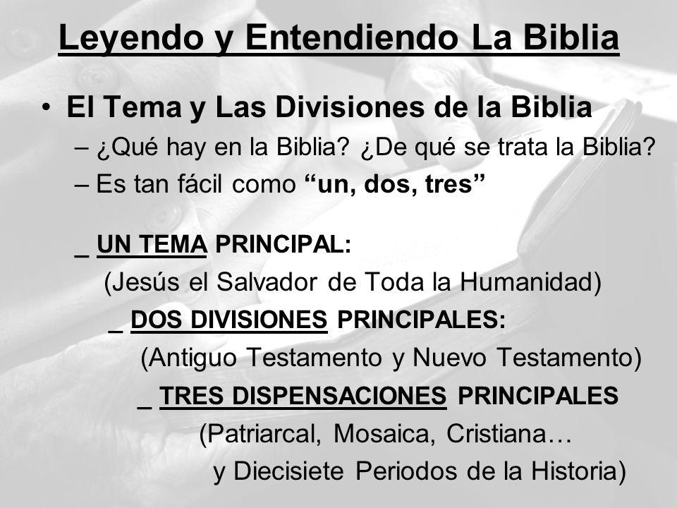 Leyendo y Entendiendo La Biblia