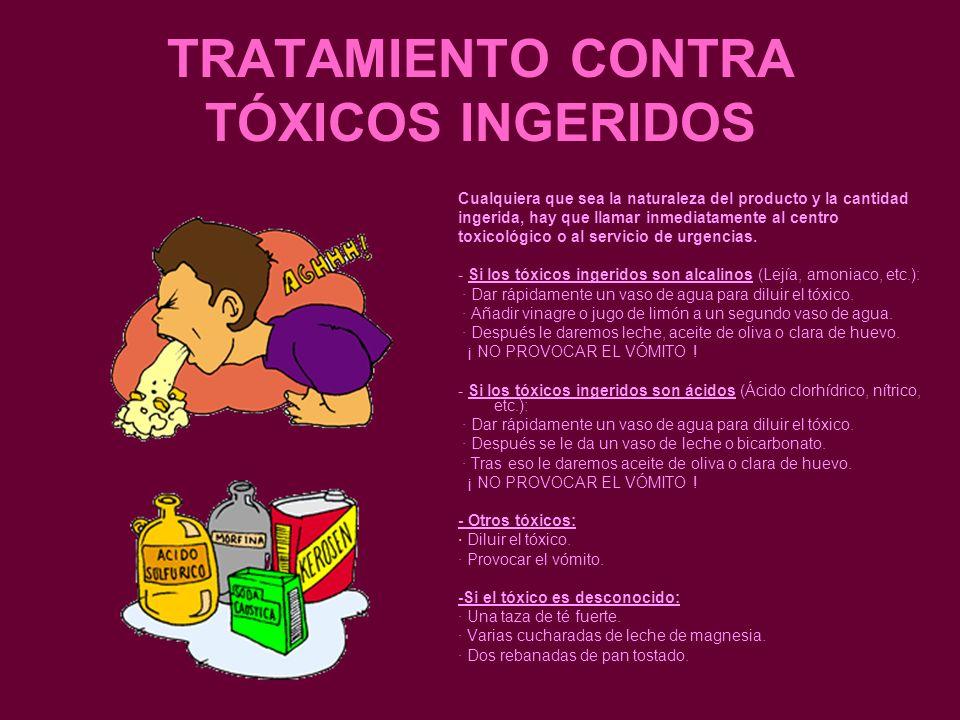 TRATAMIENTO CONTRA TÓXICOS INGERIDOS