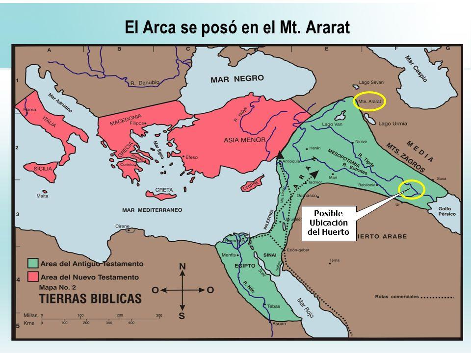 El Arca se posó en el Mt. Ararat