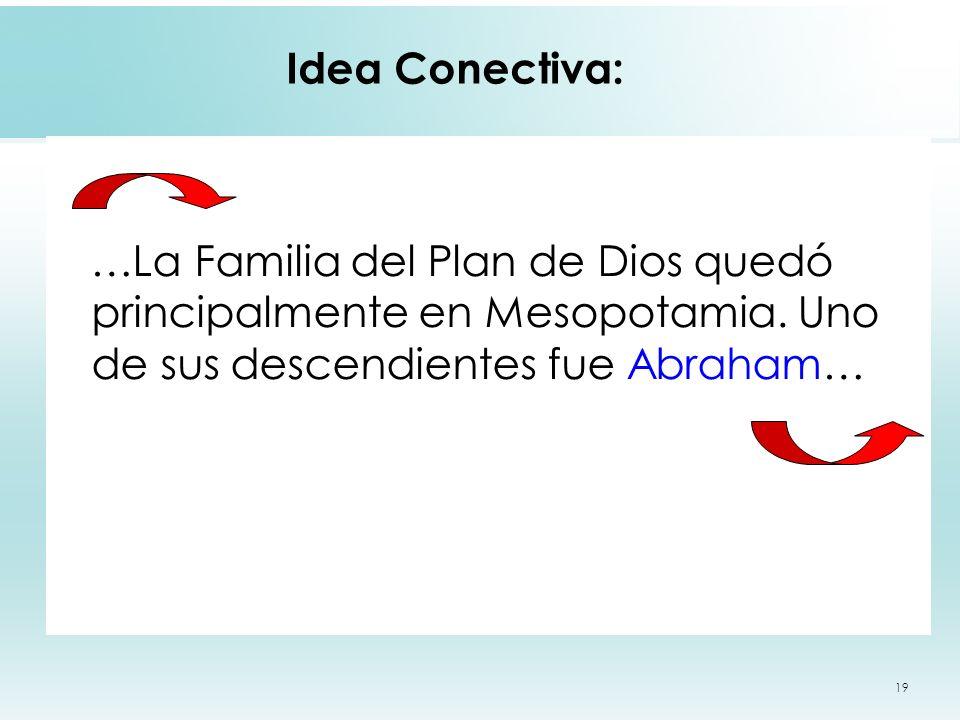 Idea Conectiva: …La Familia del Plan de Dios quedó principalmente en Mesopotamia.
