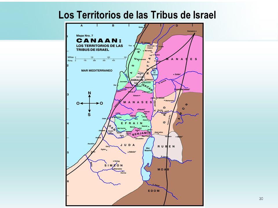 Los Territorios de las Tribus de Israel