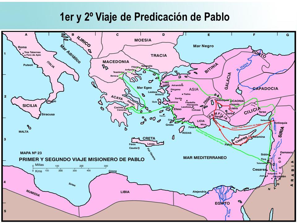 1er y 2º Viaje de Predicación de Pablo