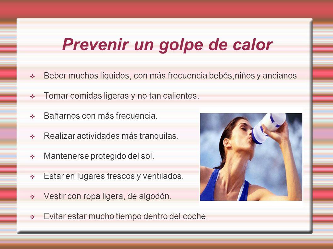 Prevenir un golpe de calor