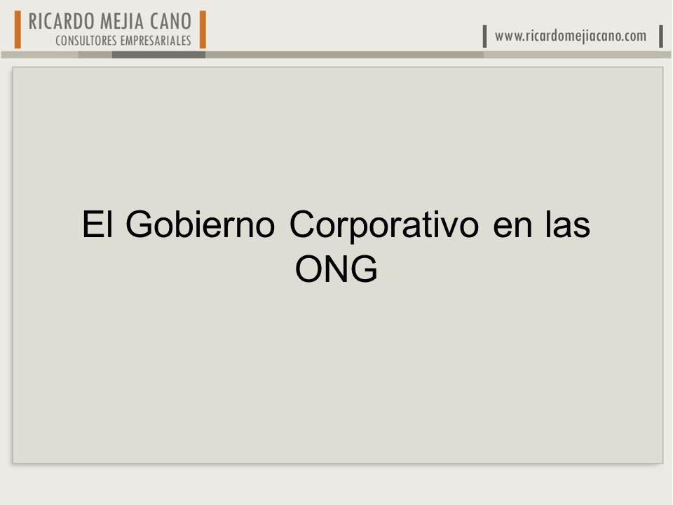 El Gobierno Corporativo en las ONG