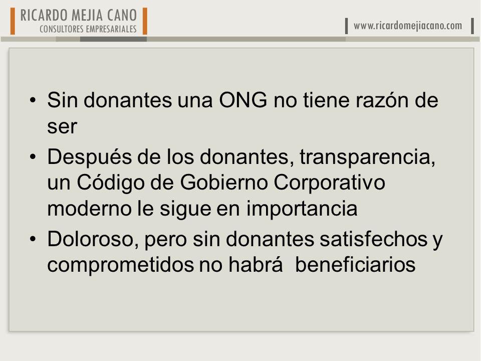 Sin donantes una ONG no tiene razón de ser