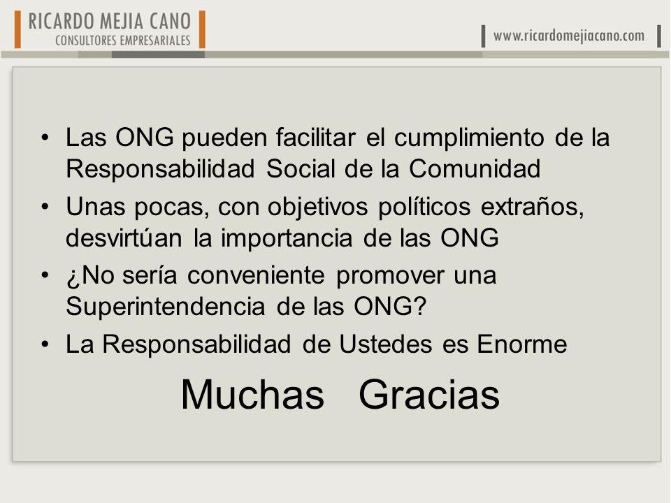 Las ONG pueden facilitar el cumplimiento de la Responsabilidad Social de la Comunidad