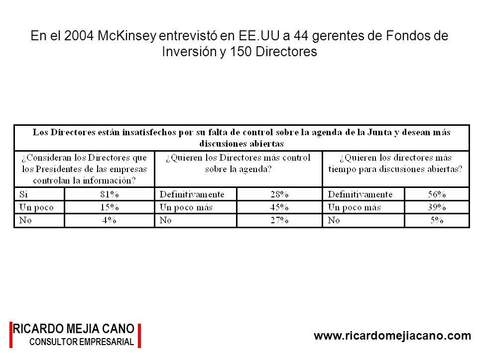 En el 2004 McKinsey entrevistó en EE