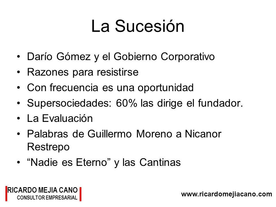 La Sucesión Darío Gómez y el Gobierno Corporativo