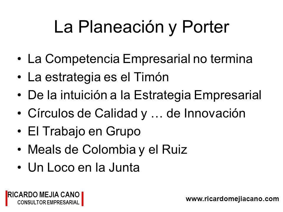 La Planeación y Porter La Competencia Empresarial no termina