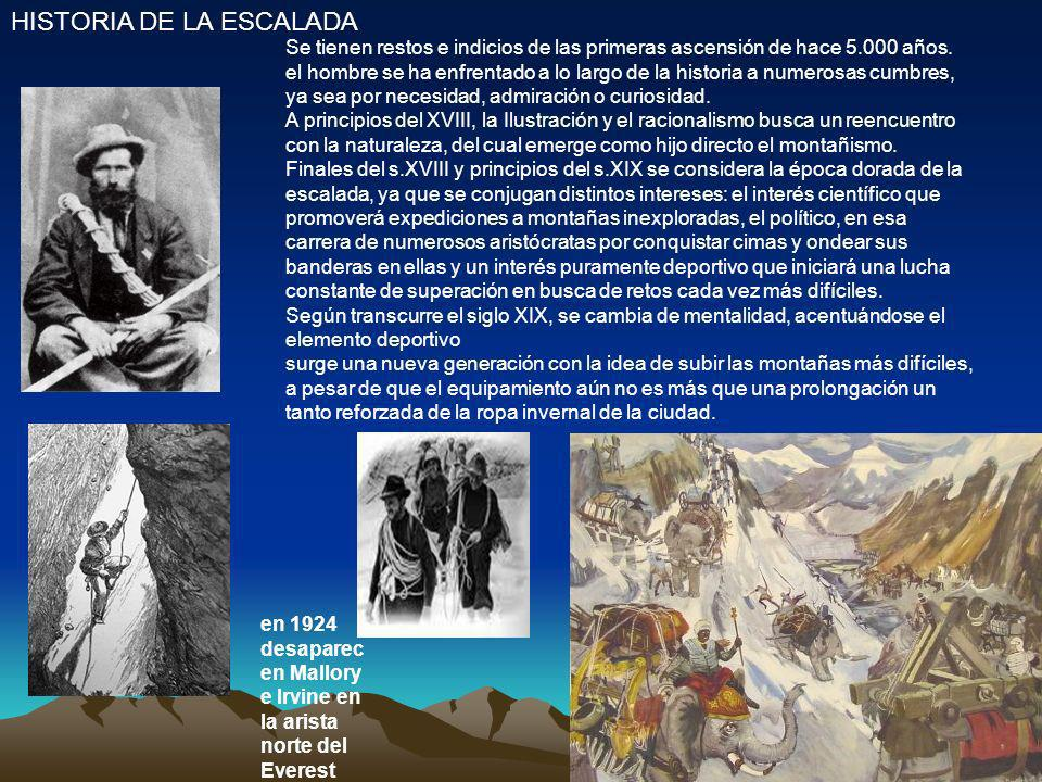 HISTORIA DE LA ESCALADA