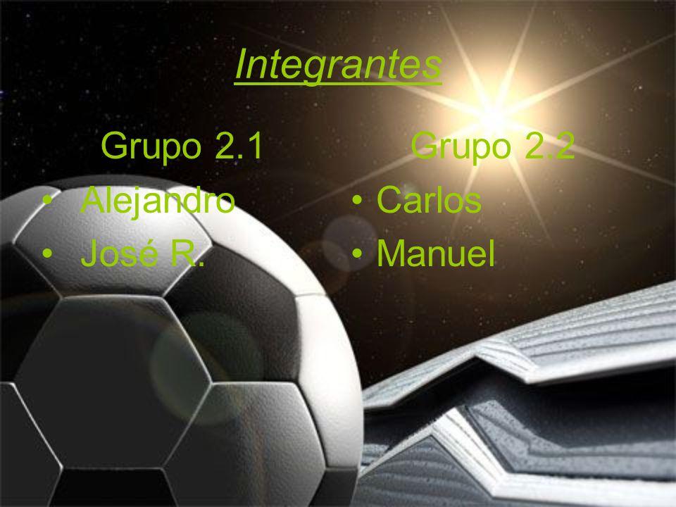 Integrantes Grupo 2.1 Alejandro José R. Grupo 2.2 Carlos Manuel