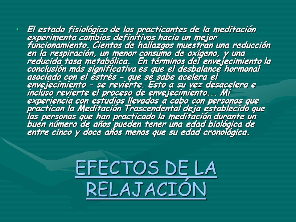 EFECTOS DE LA RELAJACIÓN