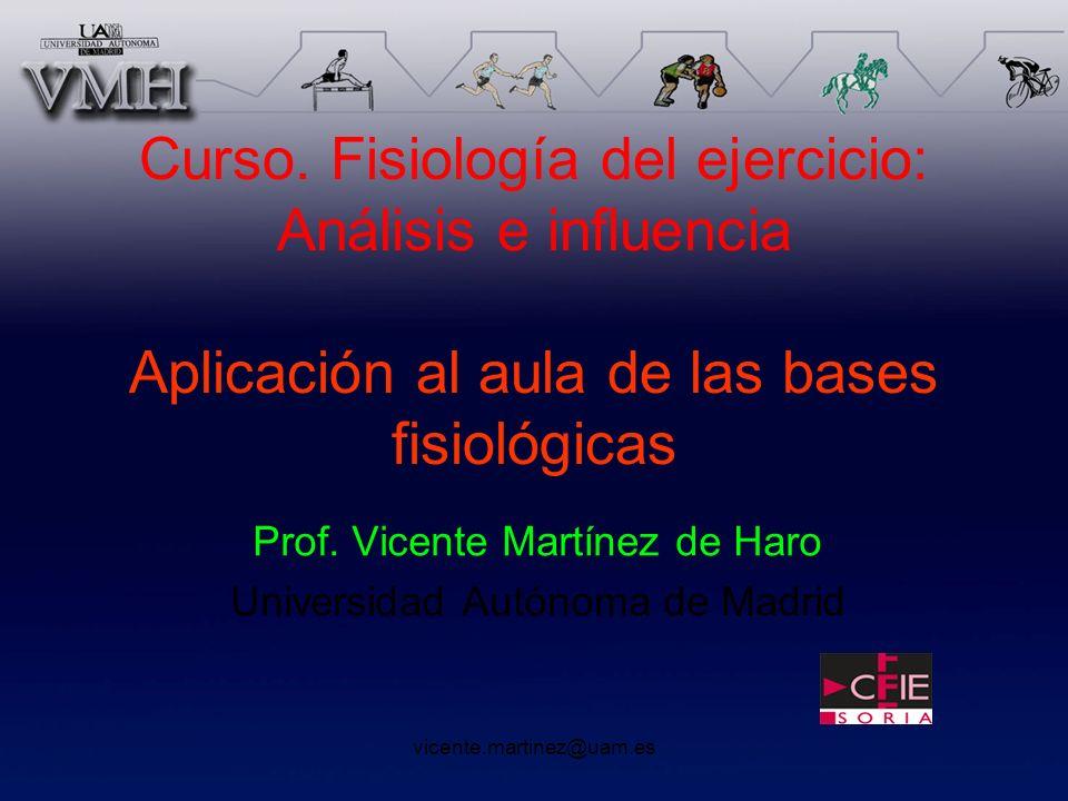 Prof. Vicente Martínez de Haro Universidad Autónoma de Madrid