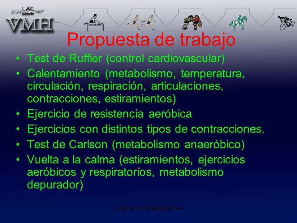 Propuesta de trabajo Test de Ruffier (control cardiovascular)