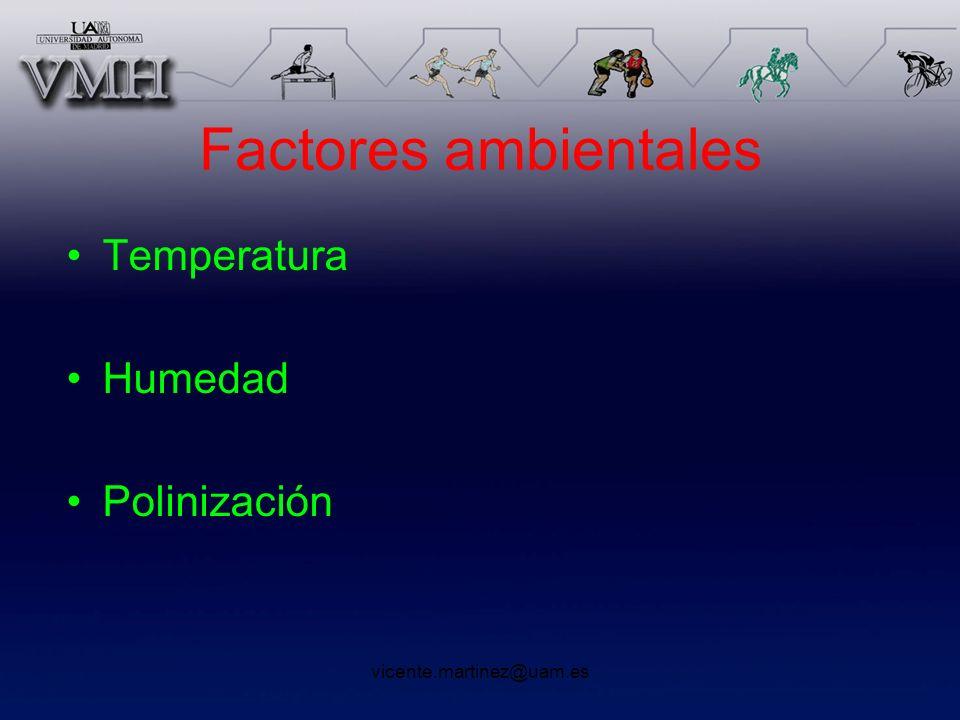Factores ambientales Temperatura Humedad Polinización