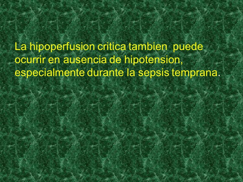 La hipoperfusion critica tambien puede