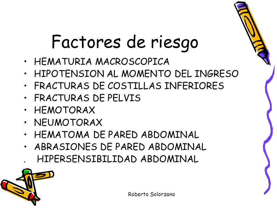Factores de riesgo HEMATURIA MACROSCOPICA