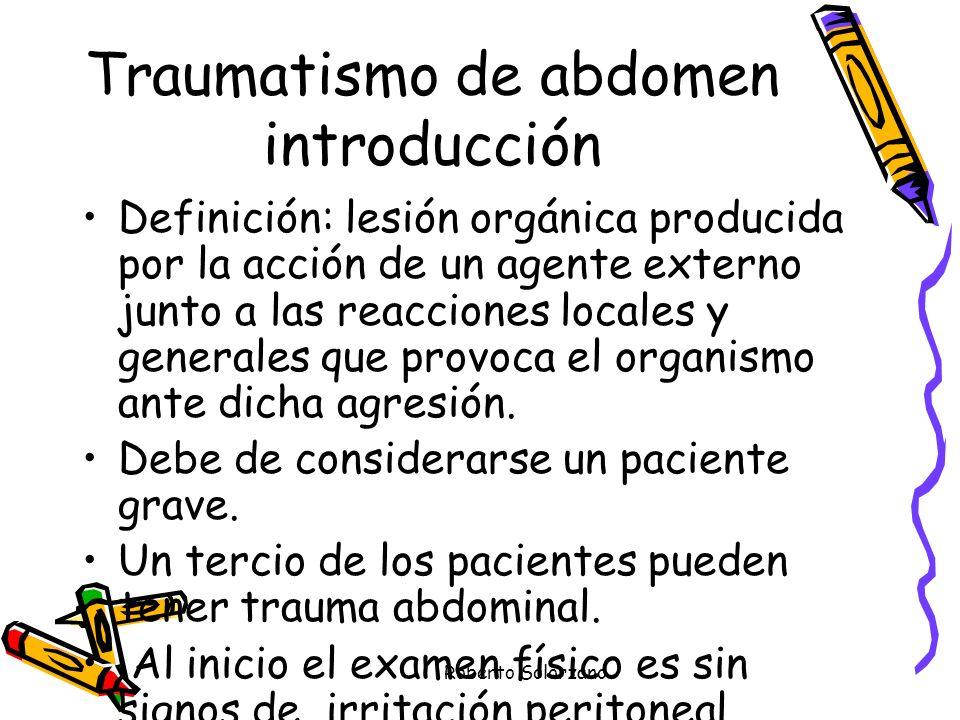 Traumatismo de abdomen introducción