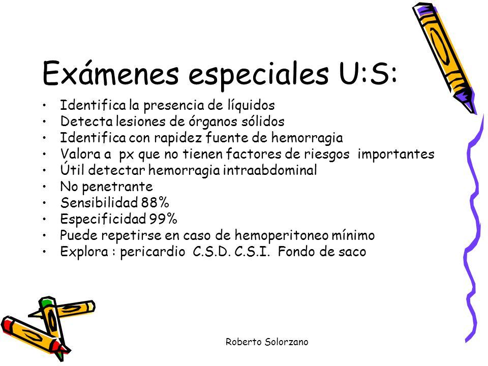 Exámenes especiales U:S: