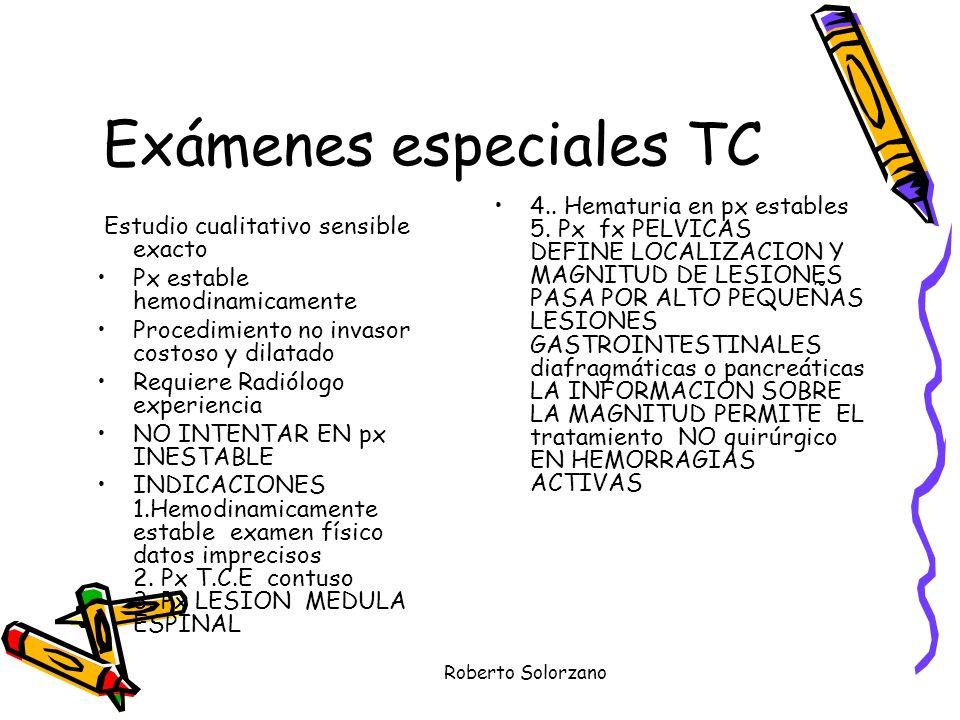 Exámenes especiales TC