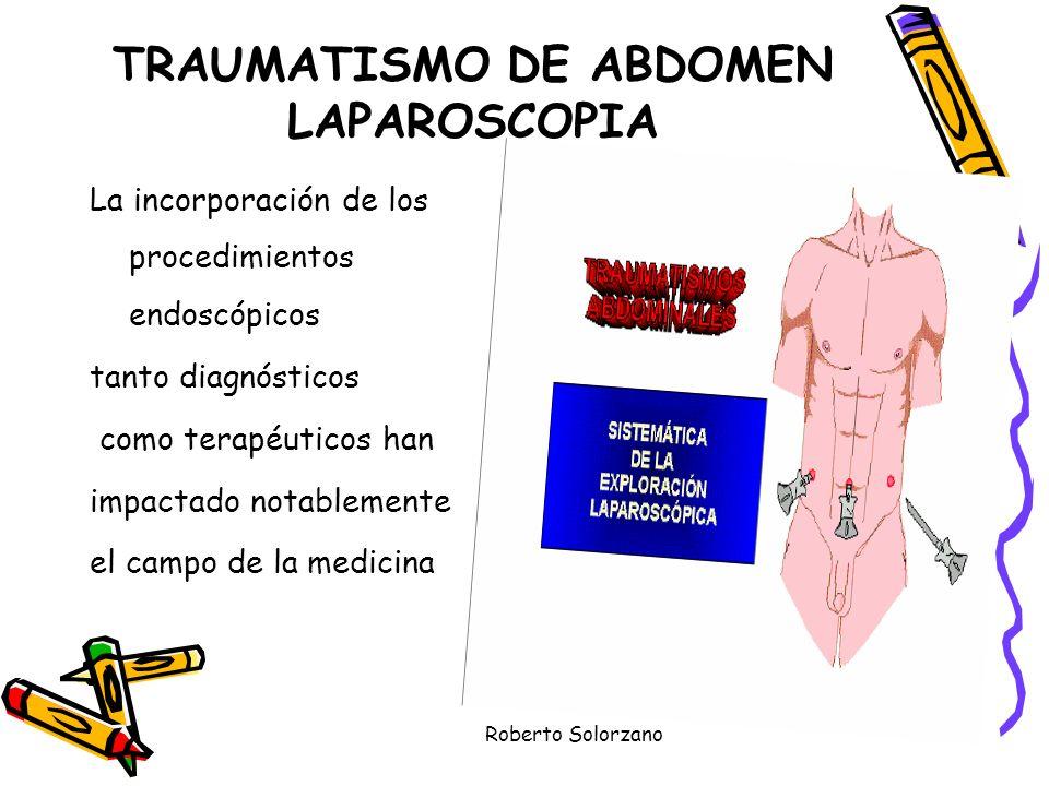 TRAUMATISMO DE ABDOMEN LAPAROSCOPIA