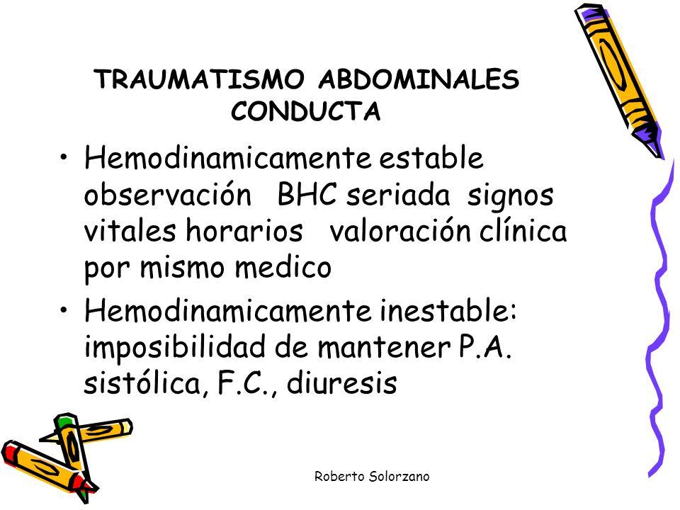 TRAUMATISMO ABDOMINALES CONDUCTA