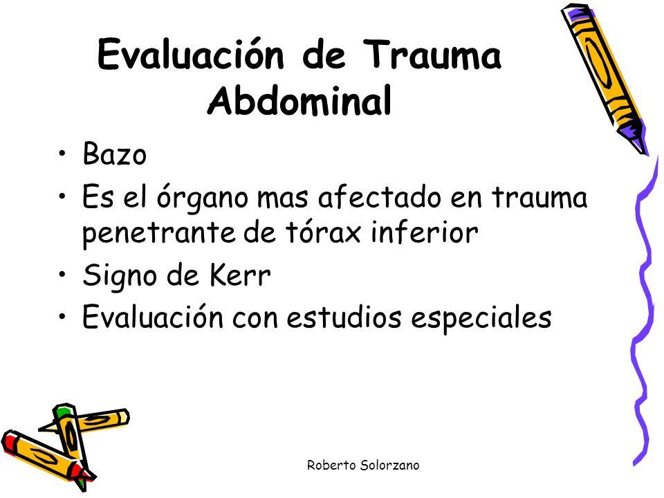 Evaluación de Trauma Abdominal