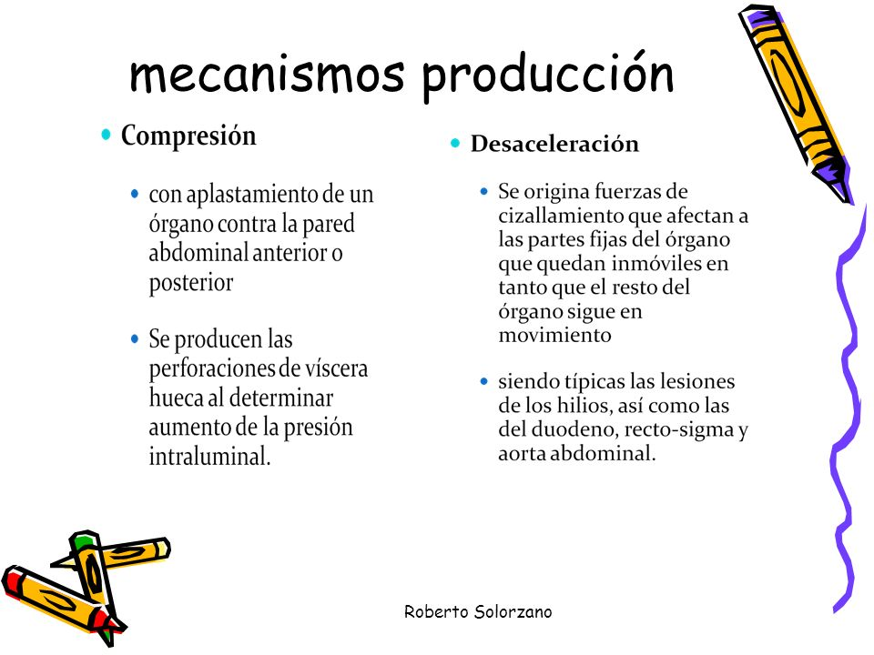 mecanismos producción