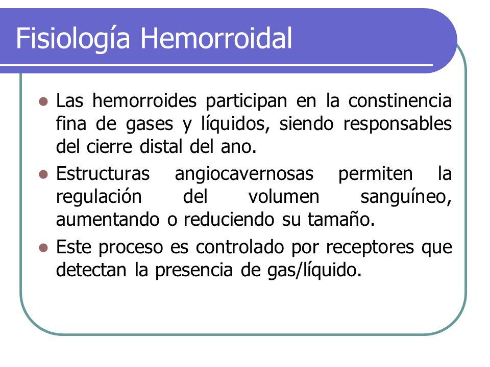 Fisiología Hemorroidal