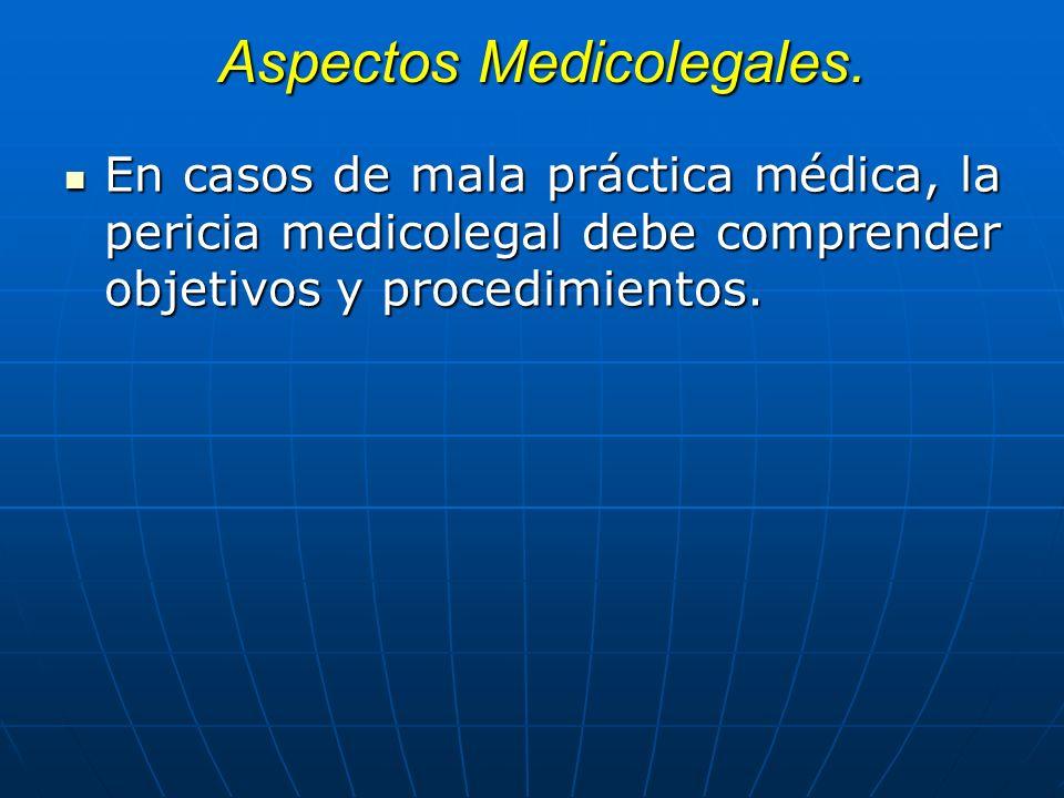 Aspectos Medicolegales.