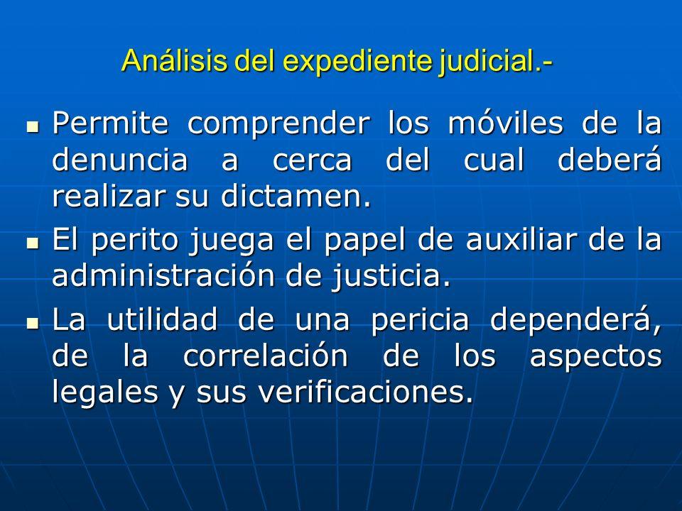 Análisis del expediente judicial.-
