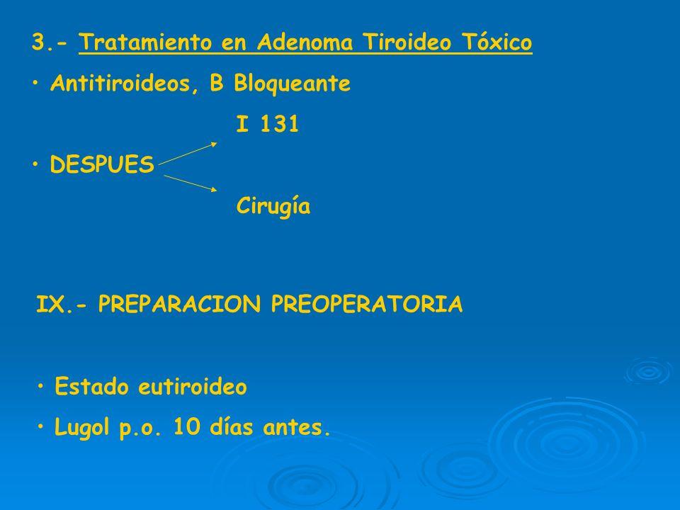 3.- Tratamiento en Adenoma Tiroideo Tóxico