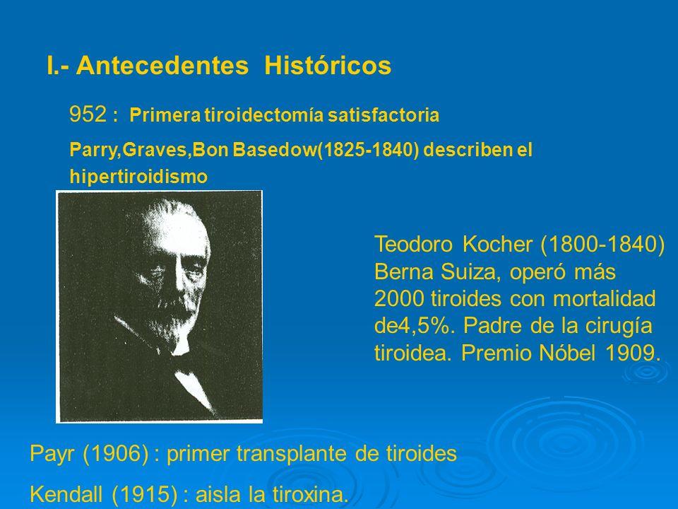 I.- Antecedentes Históricos