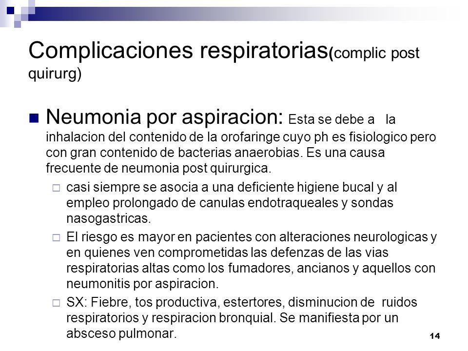 Complicaciones respiratorias(complic post quirurg)
