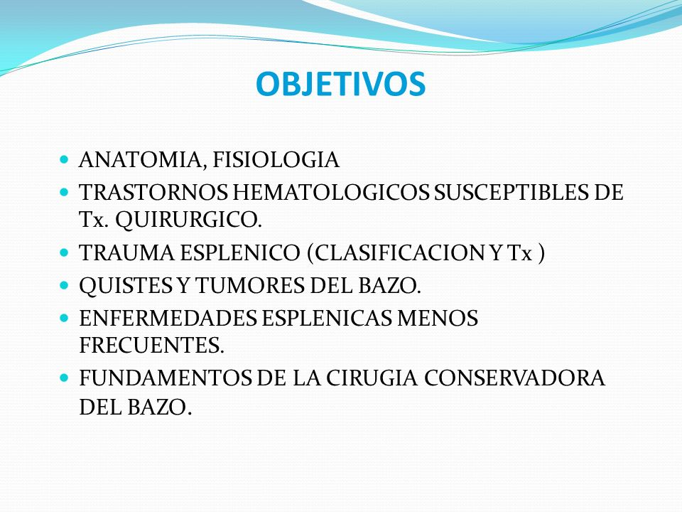 OBJETIVOS ANATOMIA, FISIOLOGIA
