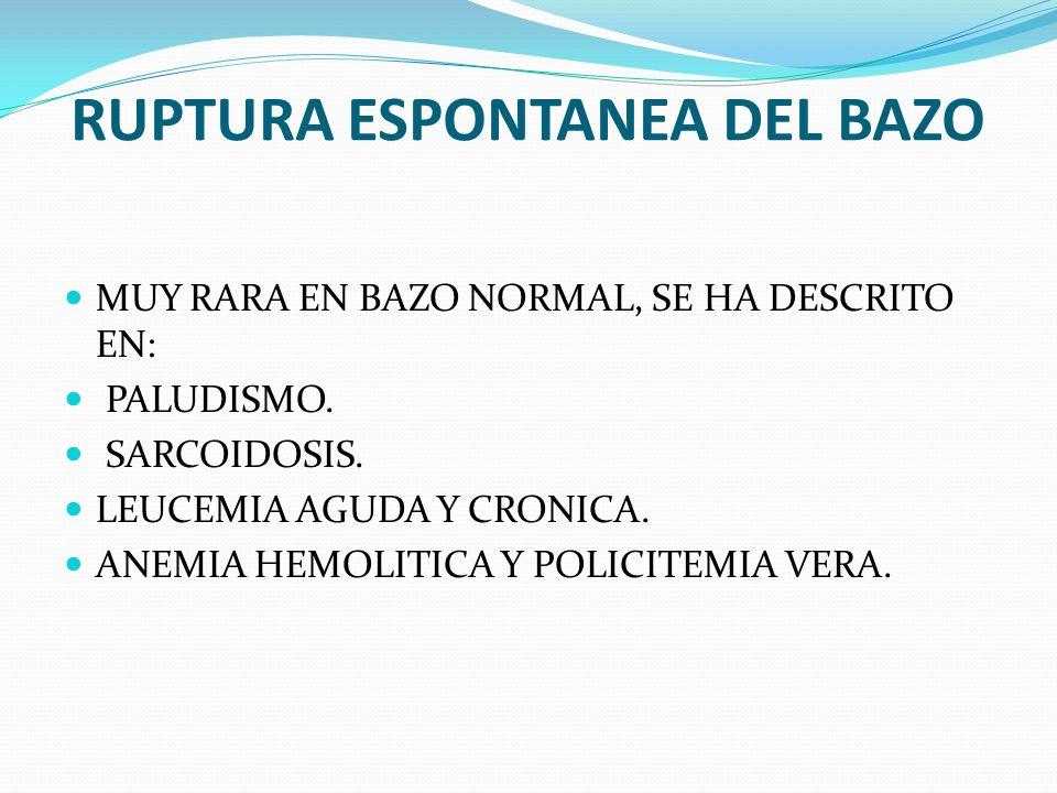 RUPTURA ESPONTANEA DEL BAZO